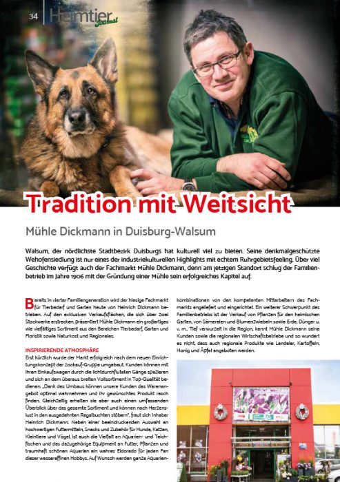 Mühle Dickmann Heimtierjournal Herbst 2020